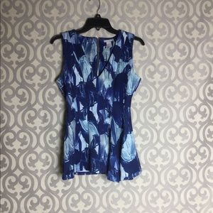 HM Print V-Neck Top